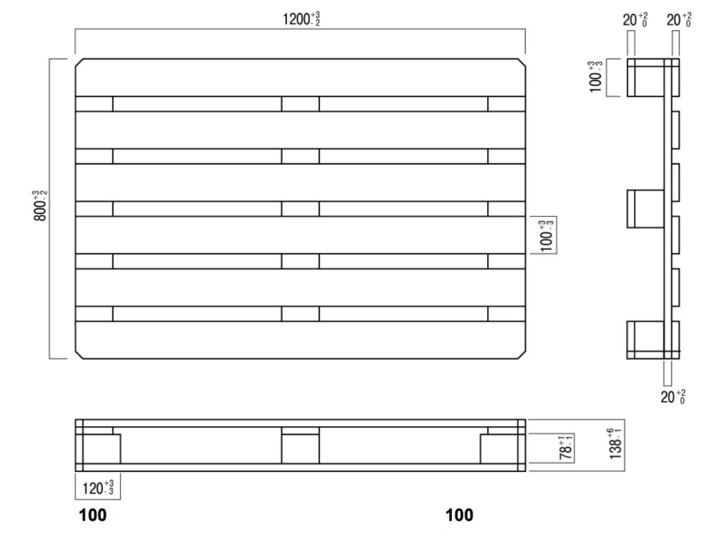 Схема деревянного европоддона